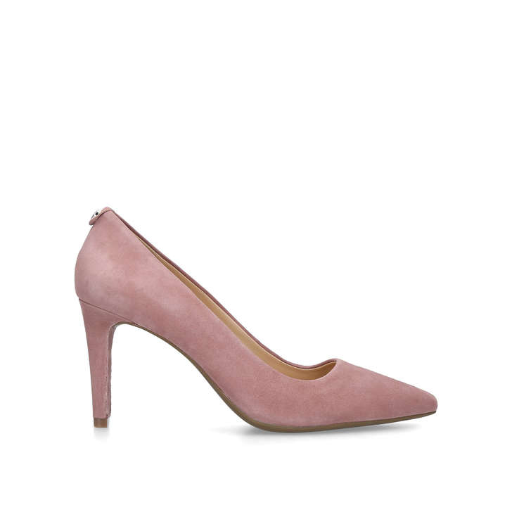 25fcef937a4 Dorothy Flex Pump Pink Suede Mid Heel Court Shoes By Michael Michael ...