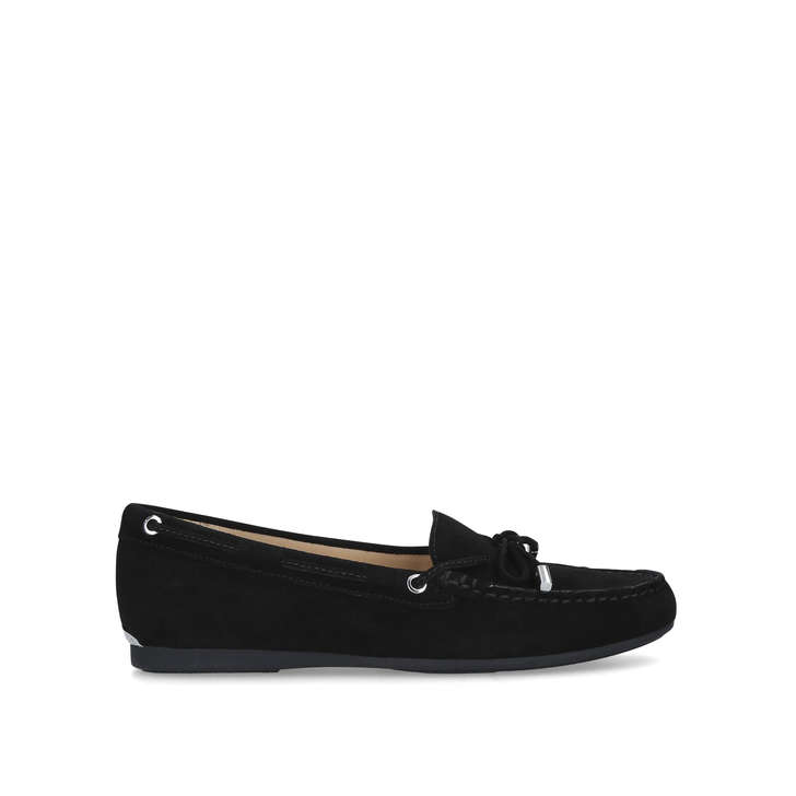SUTTON MOC Black Suede Loafers by