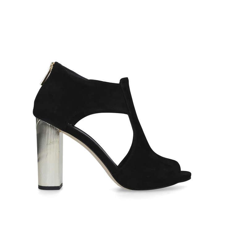 9889277f137 Paloma Platform Black Suede Block Heel Sandals By Michael Michael Kors