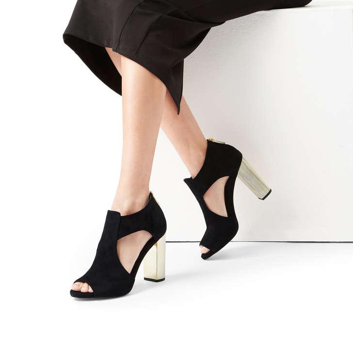 cb993f6709e Paloma Platform Black Suede Block Heel Sandals By Michael Michael Kors