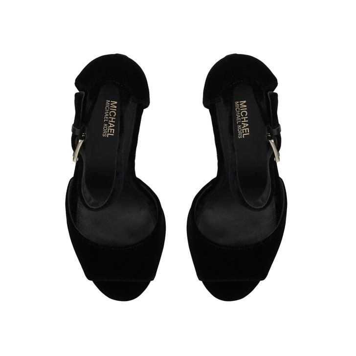 87aa31bb731 Paloma Platform Black Velvet Platform Sandals By Michael Michael Kors