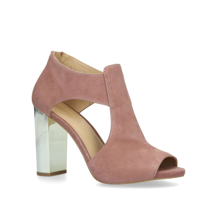 215ab20d0cd Paloma Platform Pink Suede Block Heel Sandals By Michael Michael ...