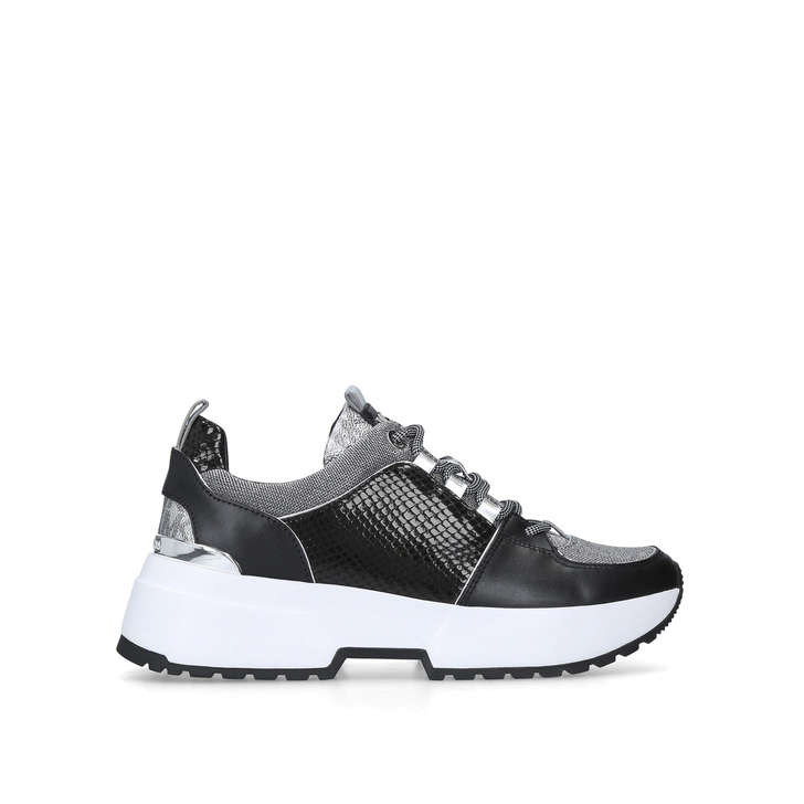 5cd6a8e00de Cosmo Trainer Black Chunky Low Top Trainers By Michael Michael Kors | Kurt  Geiger
