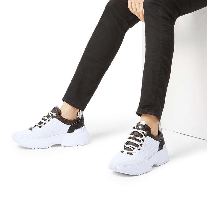 2d8fade6131 Cosmo Trainer Black And White Chunky Trainers By Michael Michael ...