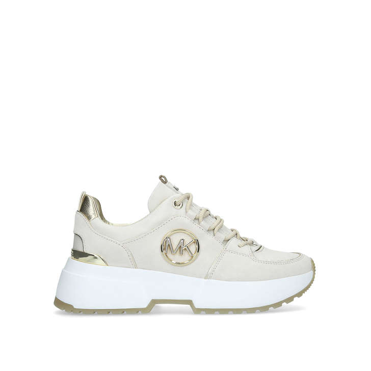 Cosmo Trainer Cream Lace Up Chunky