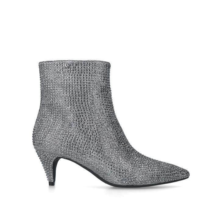 7846e7a5edae Blaine Flex Kitten Bootie Black Embellished Kitten Heel Ankle Boots By Michael  Michael Kors