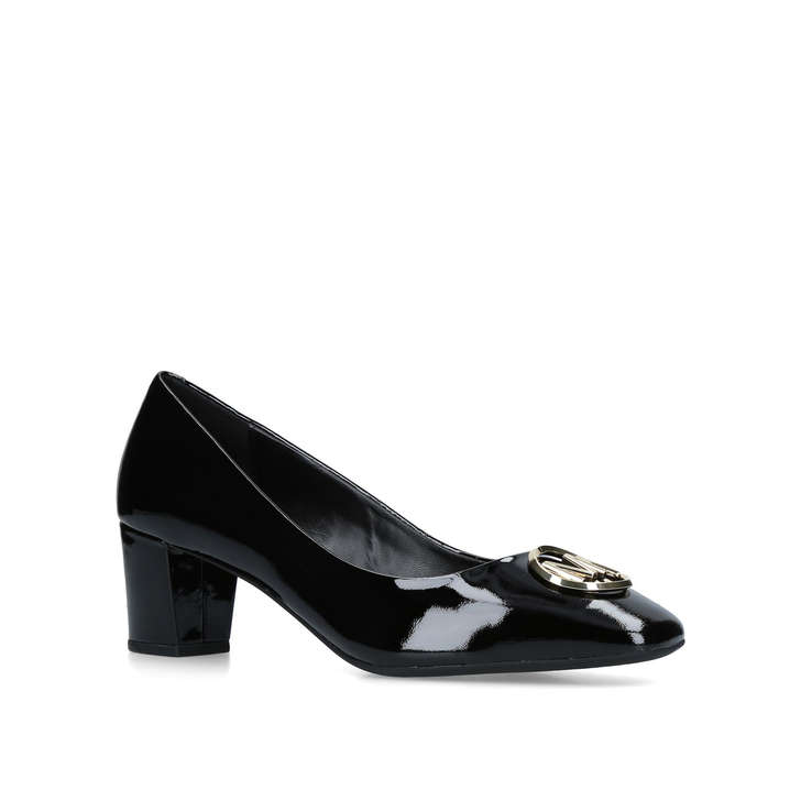 5453363d45b7 Dena Flex Mid Pump Black Patent Court Shoes By Michael Michael Kors ...