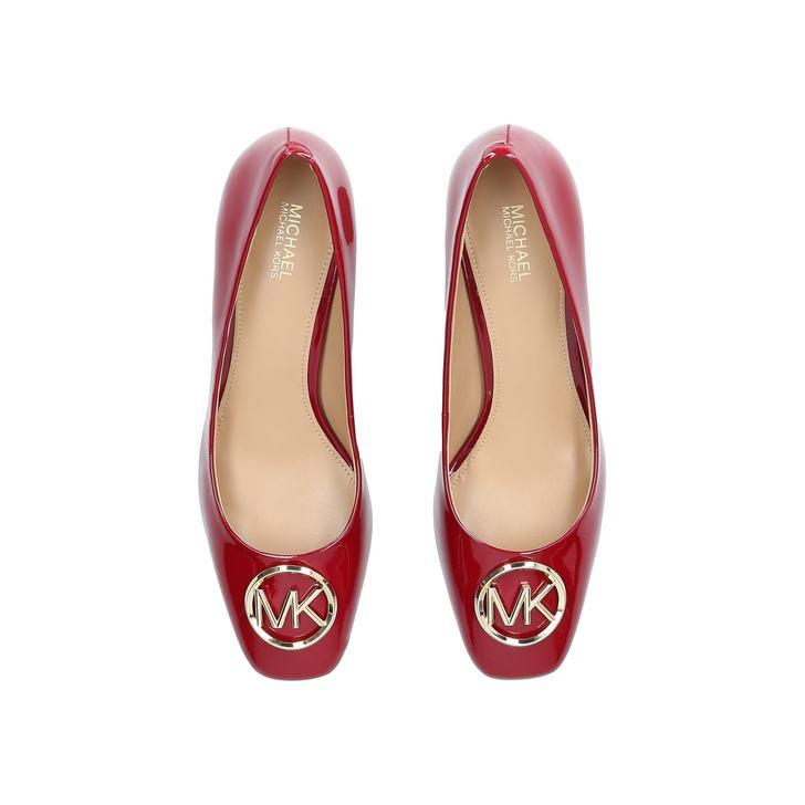 2785804c8d80 Dena Flex Mid Pump Red Patent Court Shoes By Michael Michael Kors ...