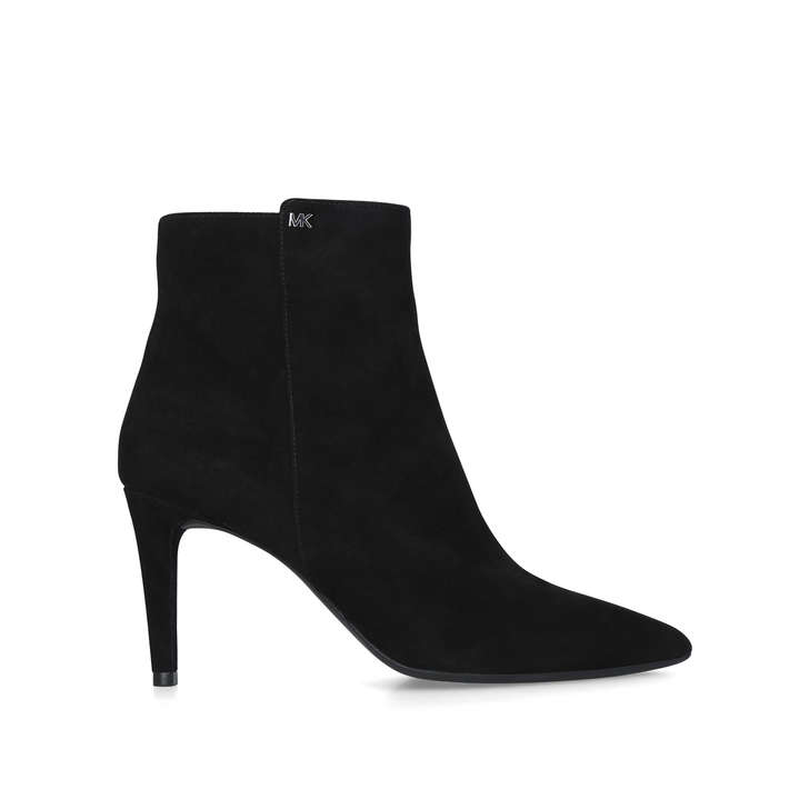 ac4cb64be Dorothy Flex Mid Bootie Black Suede Stiletto Heel Ankle Boots By ...