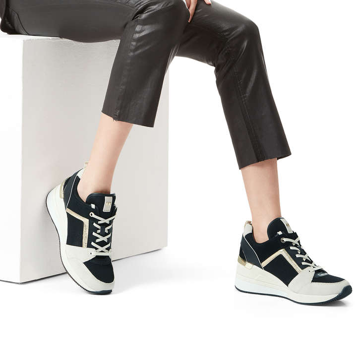 fdf3331a93d Georgie Trainer Black And White Low Top Trainers By Michael Michael ...