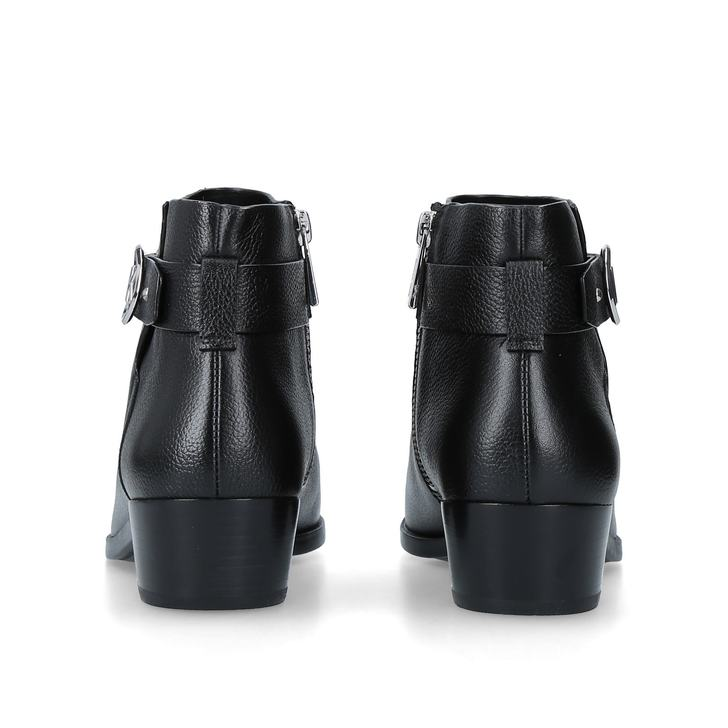 784a42ee5956 Harland Bootie Black Leather Ankle Boots By Michael Michael Kors ...