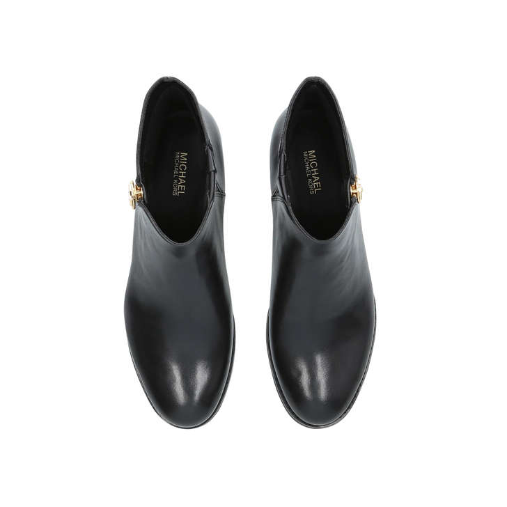 28bc18b61ceb Jaycie Flat Bootie Black Leather Ankle Boots By Michael Michael Kors ...
