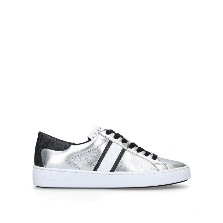 ae02daba782 Keaton Stripe Sneaker Black And Silver Low Top Trainers By Michael Michael  Kors | Kurt Geiger