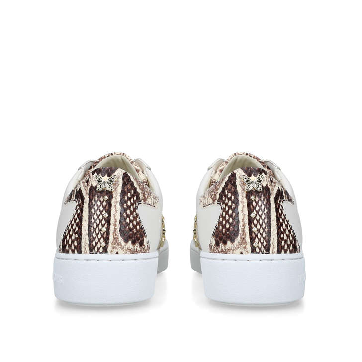 6d1681bd6c951 Keaton Stripe Sneaker Cream Snake Print Lace Up Trainers By Michael Michael  Kors