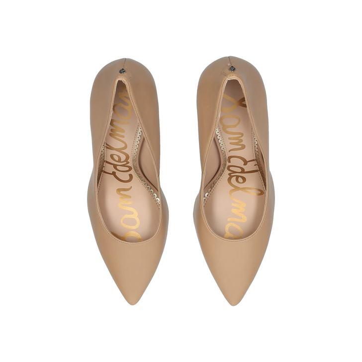 89c6e63c1cbe1a Hazel Pump 90 Nude Leather Stiletto Court Shoes By Sam Edelman ...