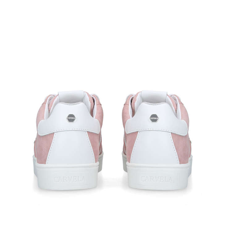 8875f87e2d090 Lisa 2 Pink Suede Low Top Trainers By Carvela | Kurt Geiger