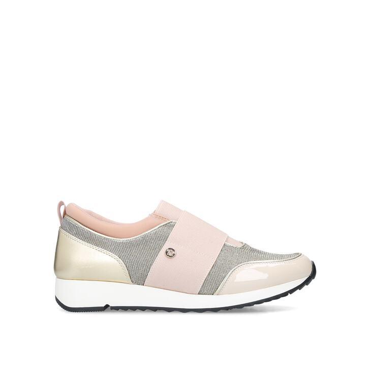 KARLA Pink Slip On Sneakers by MISS KG