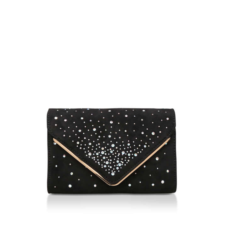 a08c858e8ab Acarema Black Embellished Clutch Bag By Aldo