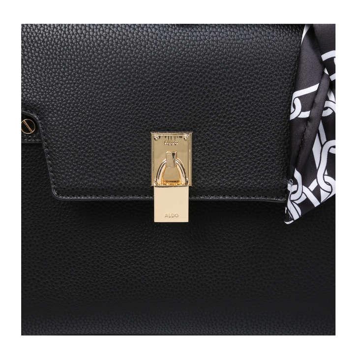 1a765ae19e0 Gandino Black Shoulder Bag With Scarf By Aldo