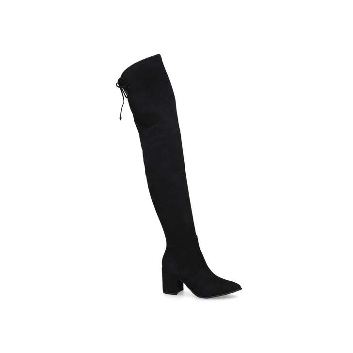 5a7794e3773 Froredia Black Block Heel Over The Knee Boots By Aldo