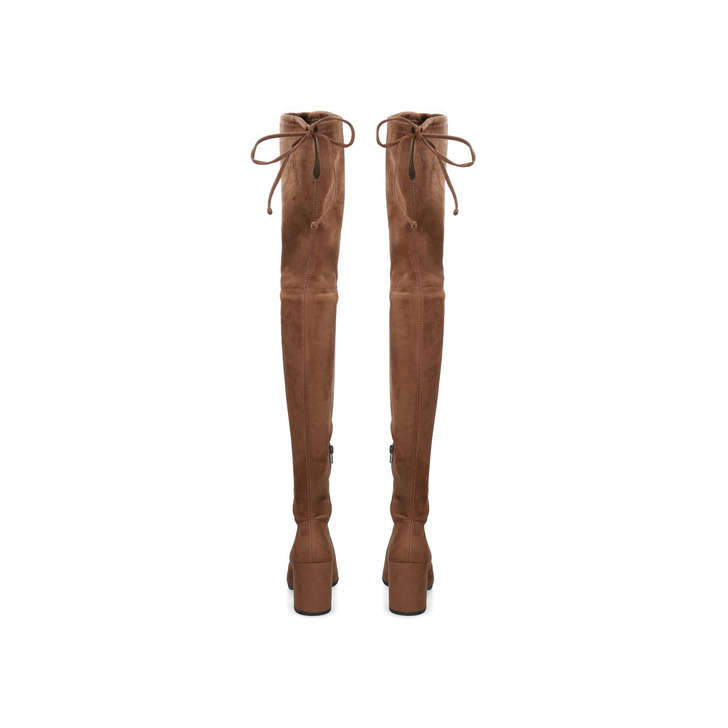 3d9b8c8a44e Froredia Brown Block Heel Over The Knee Boots By Aldo