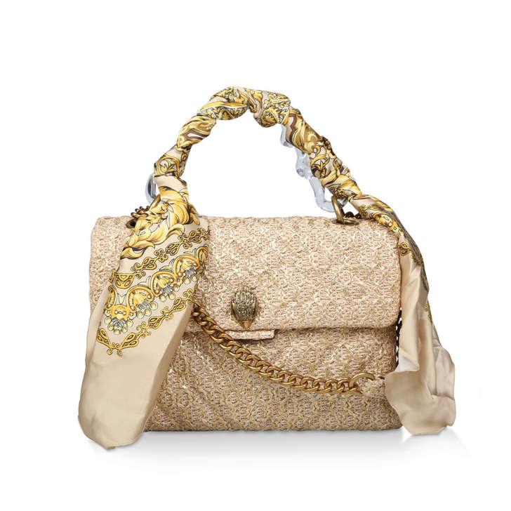 Raffia Lg Kensington Bag by Kurt Geiger London