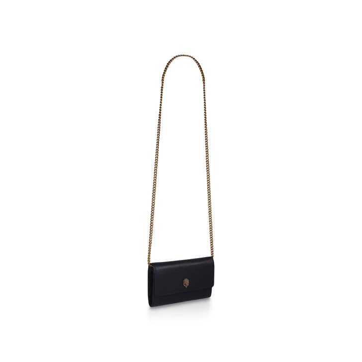 23a6bf010430 Kensington Chain Wallet Black Leather Evening Bag By Kurt Geiger London