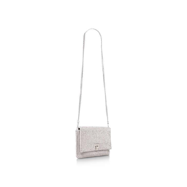 Bling Silver Embellished Clutch Bag By Carvela  7d60f81af5734