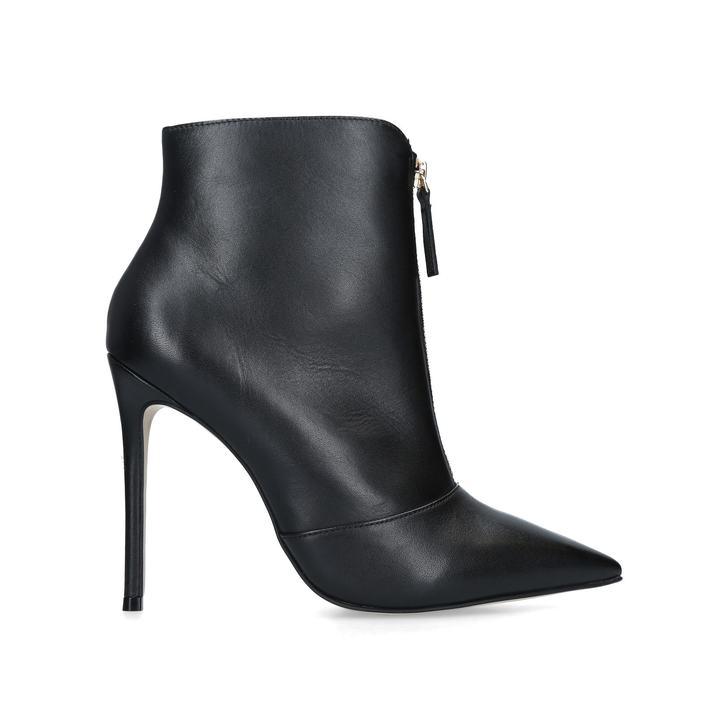 Zip Front Black Boots