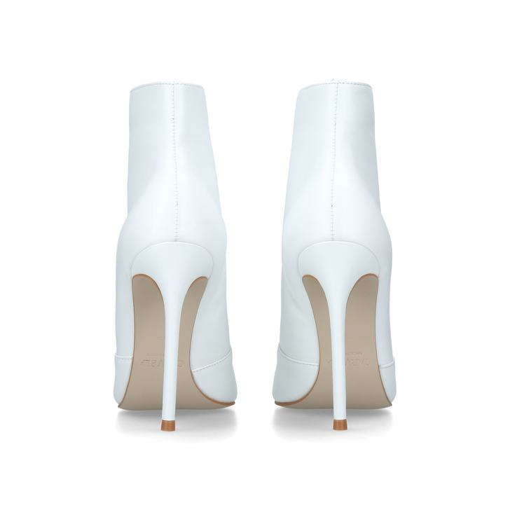 a24d28806 Specious White Leather Ankle Boots By Carvela