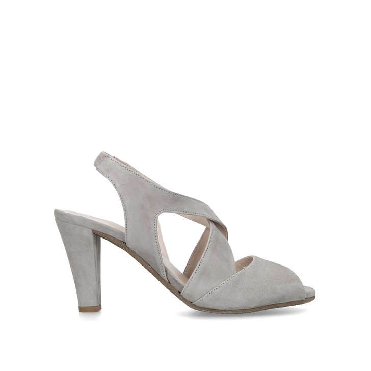7333cc9bc9e Annabel Taupe Suede Slingback Heels By Carvela Comfort