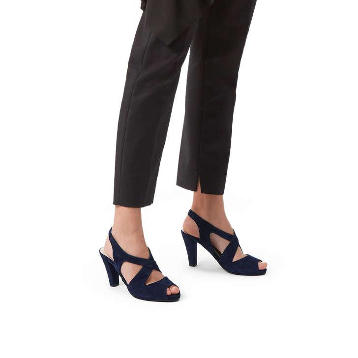 4e097b0bd7a Annabel Blue Suede Slingback Heels By Carvela Comfort