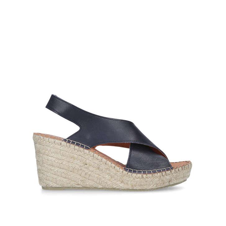 25ee95183a4 Shakira Navy Espadrille Wedge Sandals By Carvela Comfort | Kurt Geiger