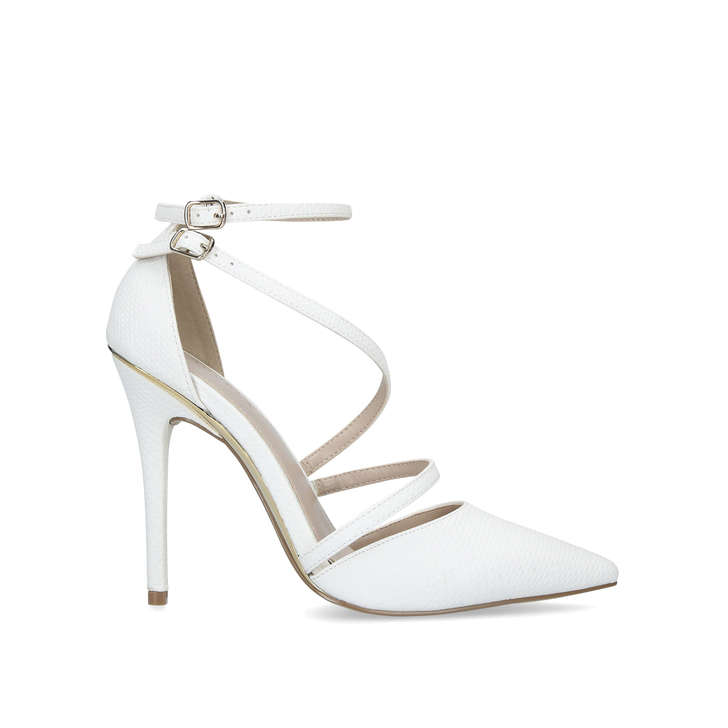 a3218a0348a Krafty White Stiletto Heel Court Shoes By Carvela
