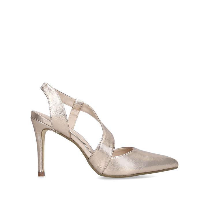 Binx Gold Court Shoes By Nine West   Kurt Geiger b93b553f49