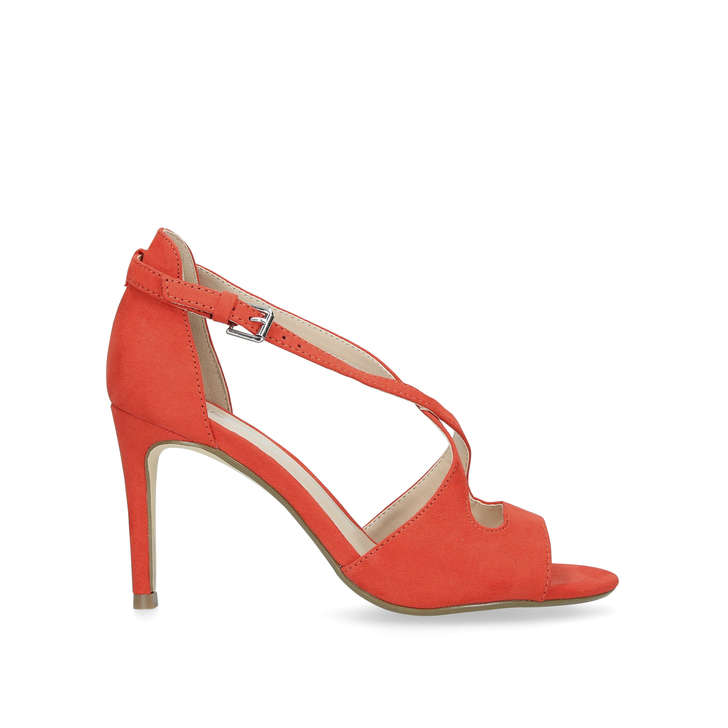 832e47699358 Favour Red Suedette Strappy Sandals By Nine West
