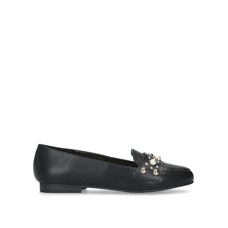 e1da1d75d Marine Black Embellished Loafers By Carvela   Kurt Geiger