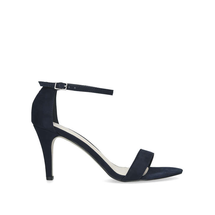 0c2d3a8ded Keeley Navy Barely There Heeled Sandals By Carvela | Kurt Geiger