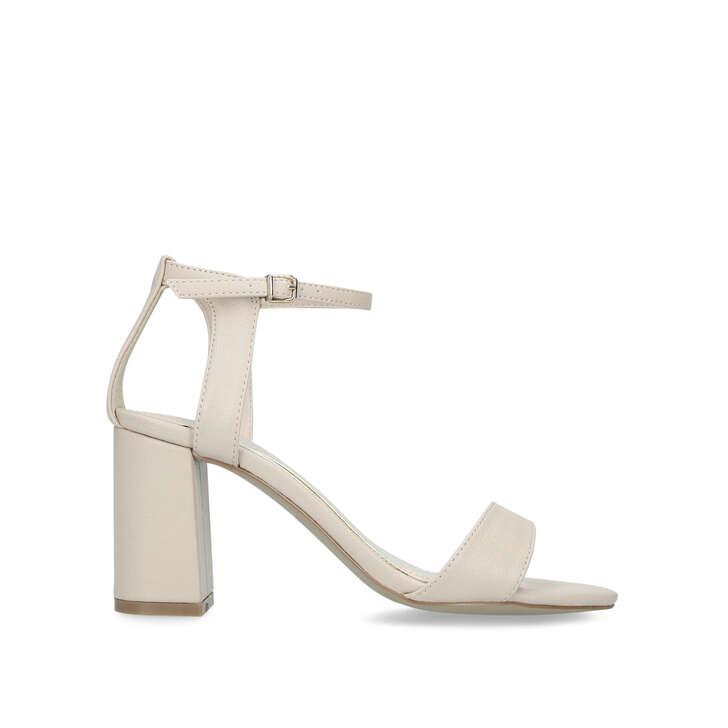 Kiki CarvelaKurt Geiger Block Heel Nude Sandals By FcluTK1J35