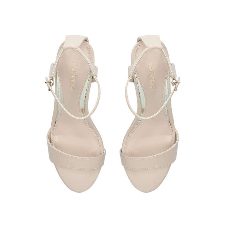 KIKI Nude Block Heel Sandals by CARVELA