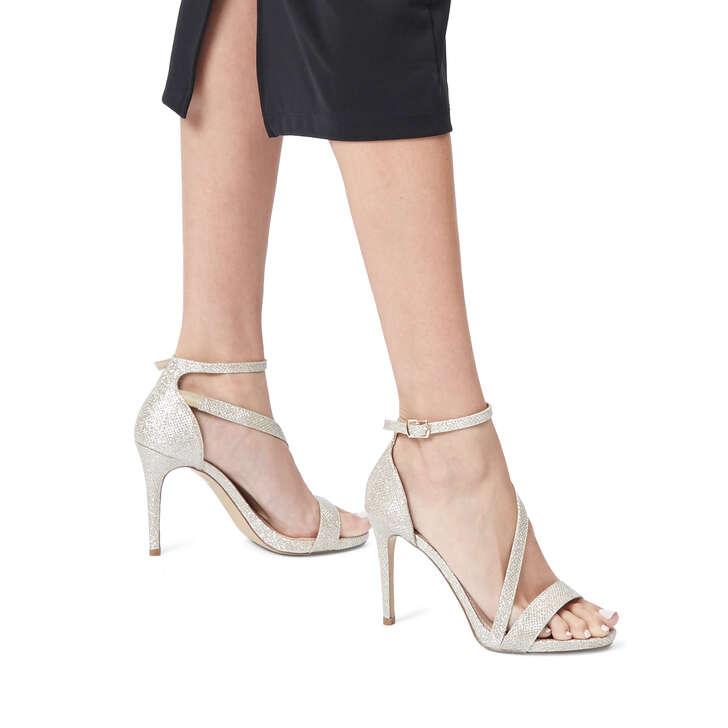 2dd6aba3bb Libertine Metallic Gold Stiletto Heel Sandals By Carvela | Kurt Geiger