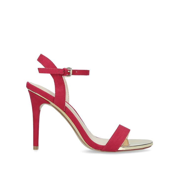 b61a2cdca975 Livid Pink Suedette Stiletto Heel Strappy Sandals By Carvela