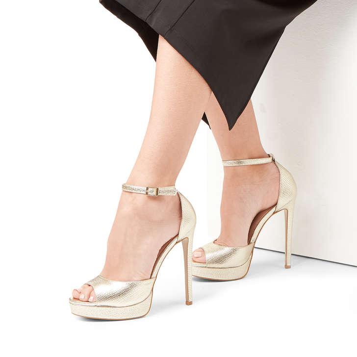 6af3706349 Lopez Metallic Gold Stiletto Heel Sandals By Carvela | Kurt Geiger