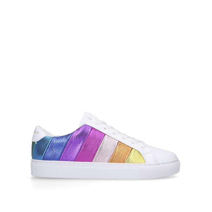 Lane Stripe Leather Rainbow Stripe Lace