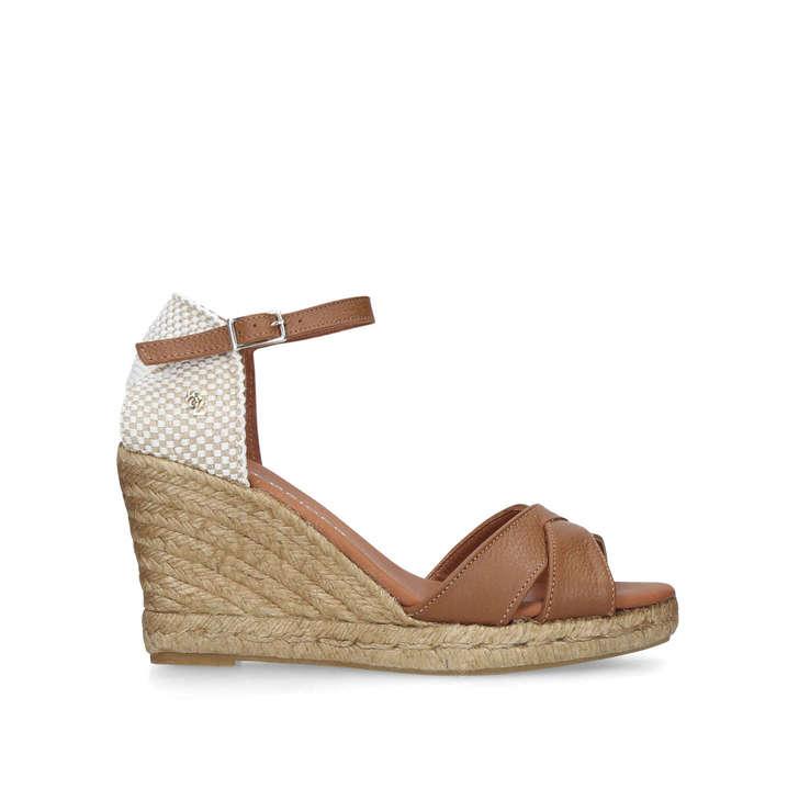 68028c2e4d Leona Tan Espadrille Wedge Sandals By Kurt Geiger London | Kurt Geiger