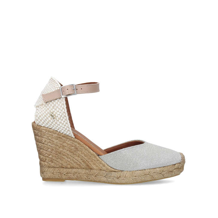 4c5b6ae7735 Monty Metallic Silver Espadrille Wedge Sandals By Kurt Geiger London ...