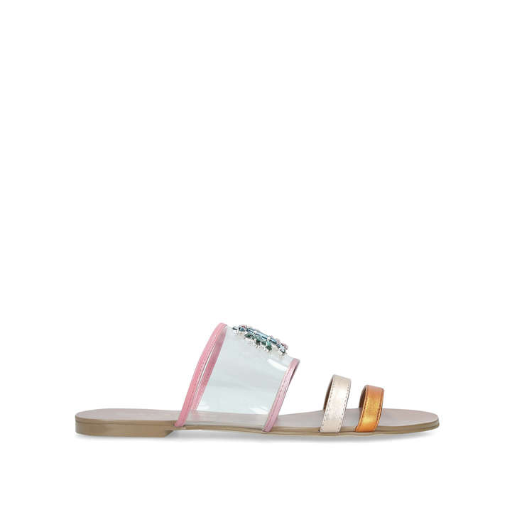 924d40267bfb Pia Vinyl Sandal Embellished Perspex Flat Sandals By Kurt Geiger London