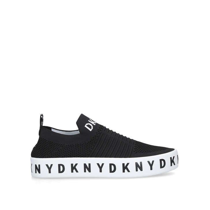 a4a269ae557 Brea Black Slip On Sock Trainers By DKNY