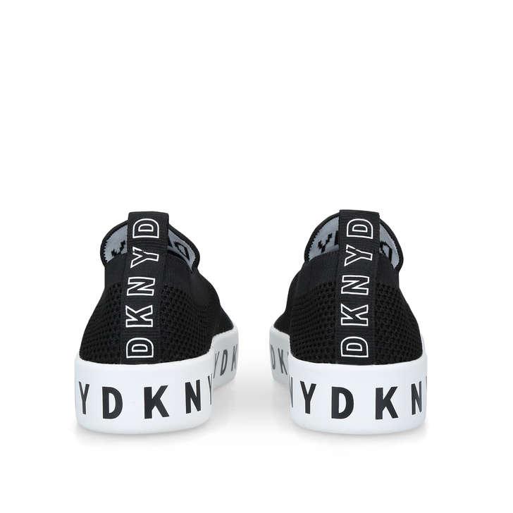 Brea Black Slip On Sock Trainers By