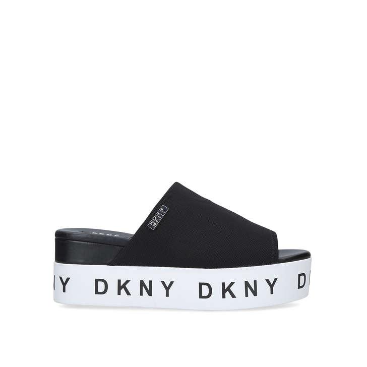 5ae6faf0e19 Carli Black Flatform Sliders By DKNY   Kurt Geiger